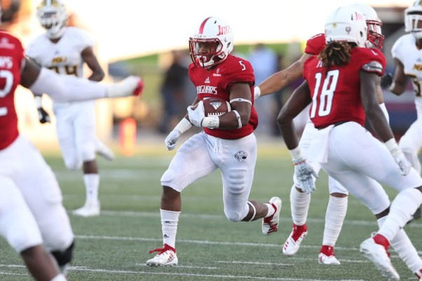 Running back Tra Minter should be among the Jaguars' standouts this year, Coach Steve Campbell says. (Scott Donaldson/South Alabama Athletics)