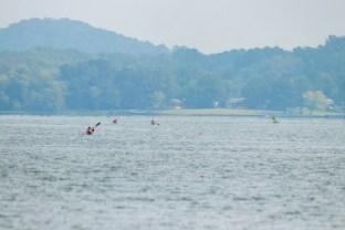 Racers paddle across Weiss Lake during the Great Alabama 650. (Dennis Washington / Alabama NewsCenter)