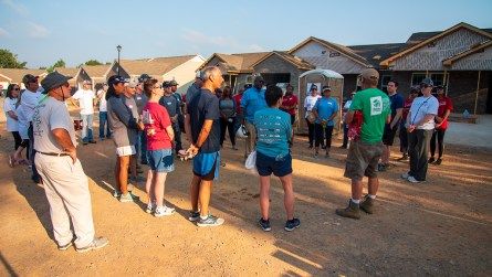 Hundreds of volunteers are needed to assist builders and workers at the Home Builders Blitz each year. (Dennis Washington / Alabama NewsCenter)