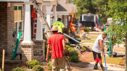 The Greater Birmingham chapter of Habitat for Humanity celebrated its 14th anniversary by building 14 homes in this year's Home Builders Blitz. (Dennis Washington / Alabama NewsCenter)