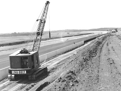 Construction of the Alabama International Motor Speedway (now Talladega Superspeedway) began in Talladega County in May 1968. The track hosted its first race in September 1969. (Encyclopedia of Alabama, courtesy of Talladega Superspeedway)