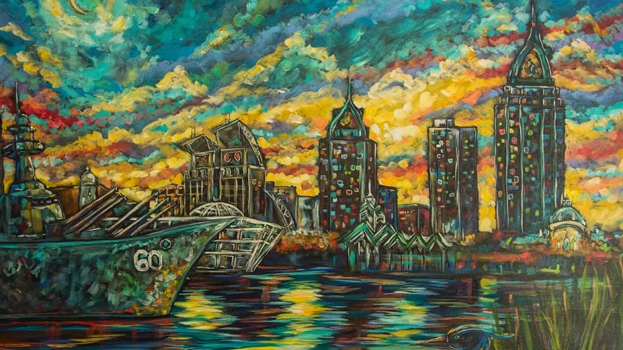 Skylines along the Gulf Coast are a favorite scene for Ginger Woechan. (Dennis Washington / Alabama NewsCenter)