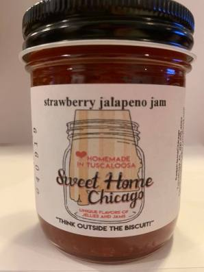 Laura S. Clark makes a line of jams and jellies under the Sweet Home Chicago brand in Tuscaloosa. (contributed)