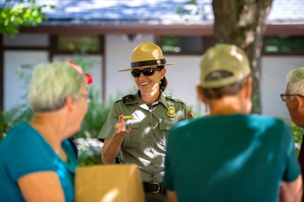 Auburn alumna Lisa Hendy says people love the park ranger hat, the icon of her profession. But it's her many hats, so to speak, that led her to be named chief ranger of the Great Smoky Mountains National Park. (Philip Smith)