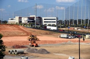 Site work continues for the Protective Stadium at the Birmingham-Jefferson Convention Complex. (Mark Almond)