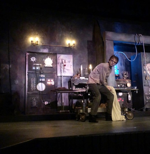 """Halloween fun begins at Mobile's Playhouse in the Park with a """"Frankenstein"""" performance based on Mary Shelley's novel. (Callie Singletary)"""
