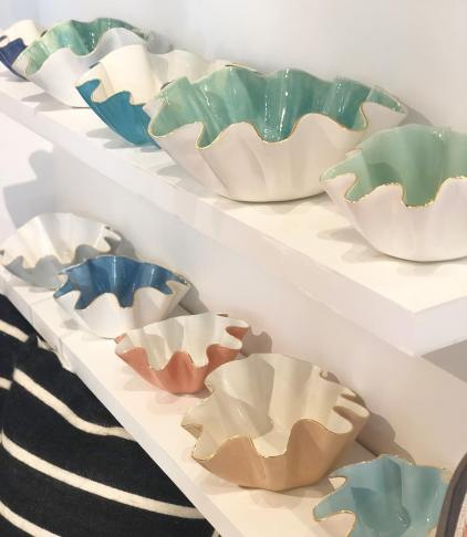 Wavy bowls may be Susan Gordon Pottery's signature work, but the company offers a large product line. (contributed)