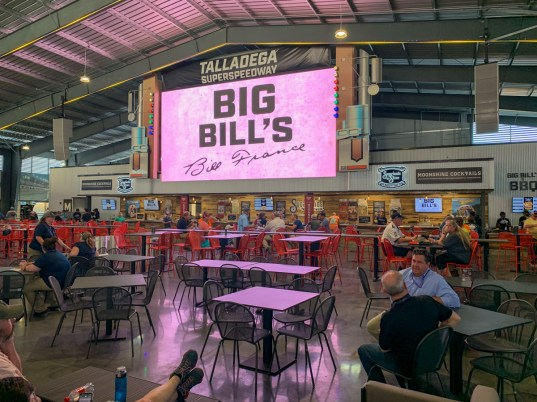 Big Bill's Open Air Club is the centerpiece of the new Talladega Garage Experience. (Dennis Washington / Alabama NewsCenter)