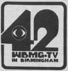 1970s-era logo for WBMG 42. (Bhamwiki)