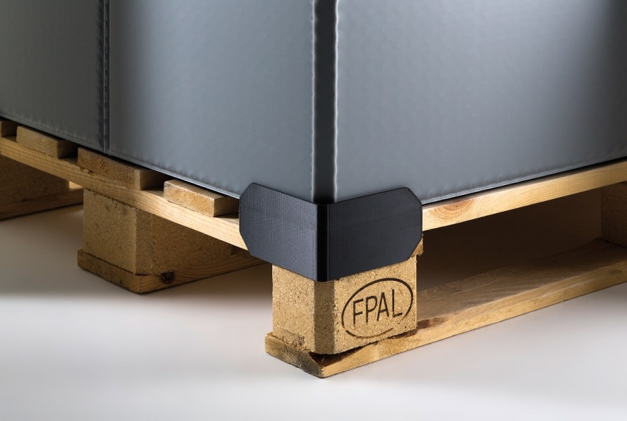 ID Plastics' transportation containers are designed to be folded and returned. (ID Plastics)