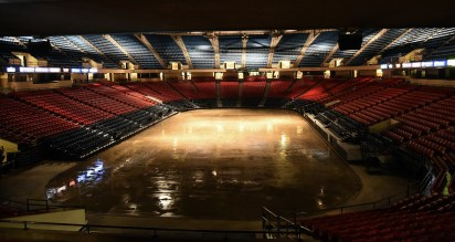 Legacy Arena during preparations for a Disney on Ice performance. (Mark Almond/The Birmingham Times)