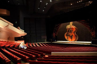 The concert hall is readied for a performance by the Alabama Ballet at the Birmingham-Jefferson Convention Complex. (Mark Almond/The Birmingham Times)