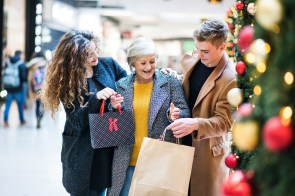 A family shopping trip could be a Christmas highlight for an older person, regardless of what's in the bag. (Getty Images)
