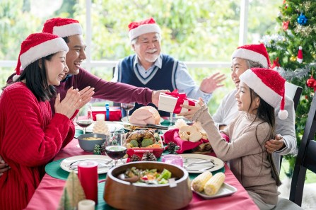 Family meals on holidays can be more meaningful for older people than presents. (Getty Images)