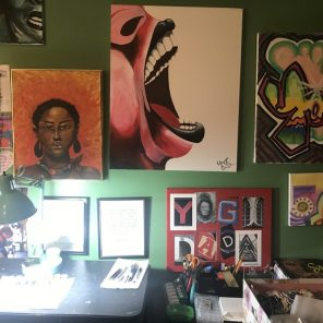 A collage of her some of her paintings. (Keisa Sharpe)