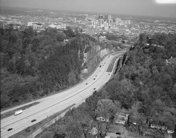 Aerial view of Birmingham, 1993. (Jet Lowe, Library of Congress Prints and Photographs Division)