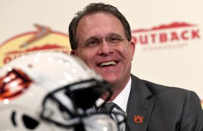 Auburn Head Coach Gus Malzahn meets the press for Outback Bowl week. (Todd Van Emst/AU Athletics)