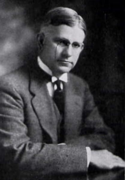 Portrait of University of Alabama President George Denny, c. 1919. (University of Alabama Corolla, Wikipedia)