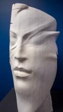 """La Masehera"" (The Mask) by Giovanni Balderi, sculpted at the Sylacauga Marble Festival in 2010. (Dennis Washington / Alabama NewsCenter)"