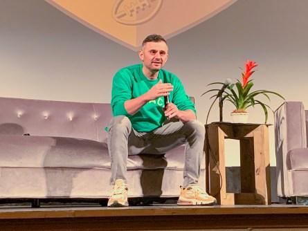 Gary Vaynerchuk speaks at the Senior Bowl Summit held Jan. 23 at Saenger Theatre in Mobile. (Dennis Washington / Alabama NewsCenter)
