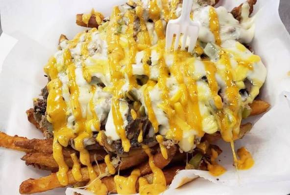 Cheesesteak fries at T-Bone's. (Brittany Dunn/Alabama NewsCenter)