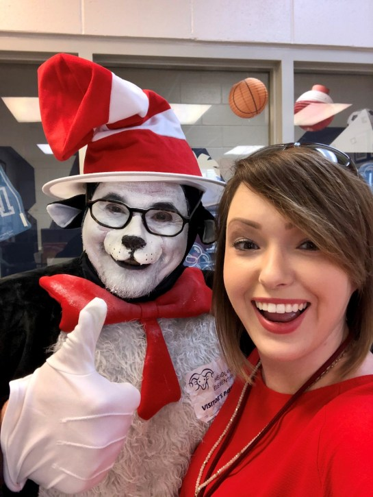 Brittany Killingsworth with the Alabama Power Service Organization participated in Read Across America at Headland Elementary School. (contributed)