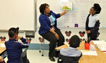 Monica Mabien of the Alabama Power Service Organization participated in Read Across America at Craighead Elementary School. (contributed)