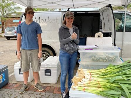 Owls Hollow Farm participates in the Pepper Place Drive-Thru Farmers Market. (contributed)