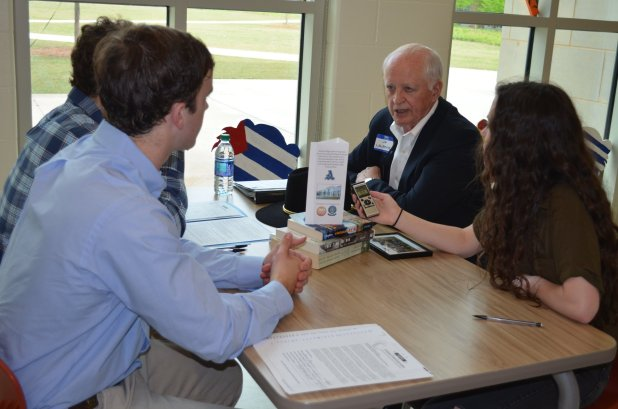 Auburn High School students collect stories and information on Alabama veterans. (AHS Veterans Project)