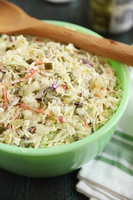 Shred your own cabbage or take advantage of one of those bags of shredded coleslaw mix in the produce section of the grocery store. (Stacey Little/Southern Bite)