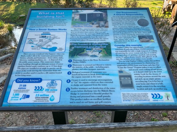 Project partners have also installed signs along the watershed to educate the public about restoration and conservation efforts. (Dennis Washington / Alabama NewsCenter)