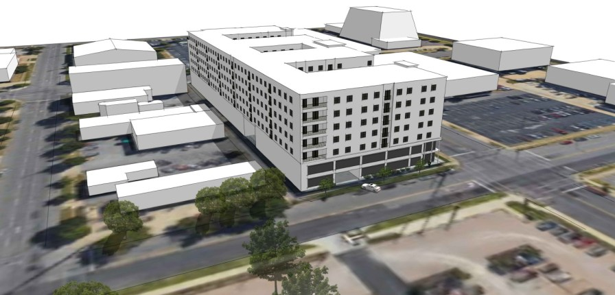 A $55 million student housing project is planned for property near UAB bordered by 13th and 14th Streets South and Fourth and Fifth Avenues South. (contributed)