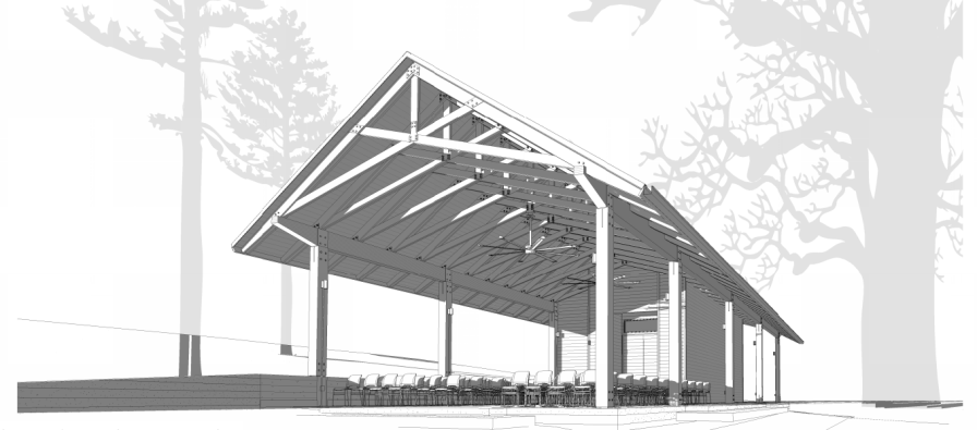 A new pavilion is being built at Turkey Creek Nature Preserve. (contributed)