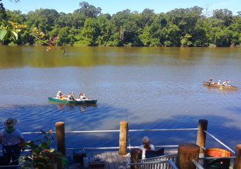 Guests Canoeing & Fishing at Live Oak Landing