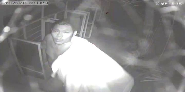 CCTV screenshot of the suspect.