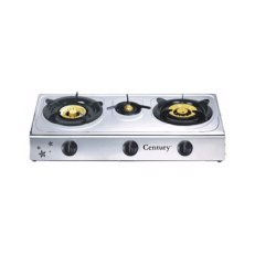 Century Stainless Steel Gas Cooker 3 Burners