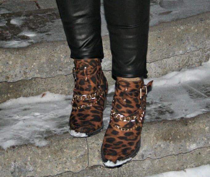 leopard booties shoe dazzle