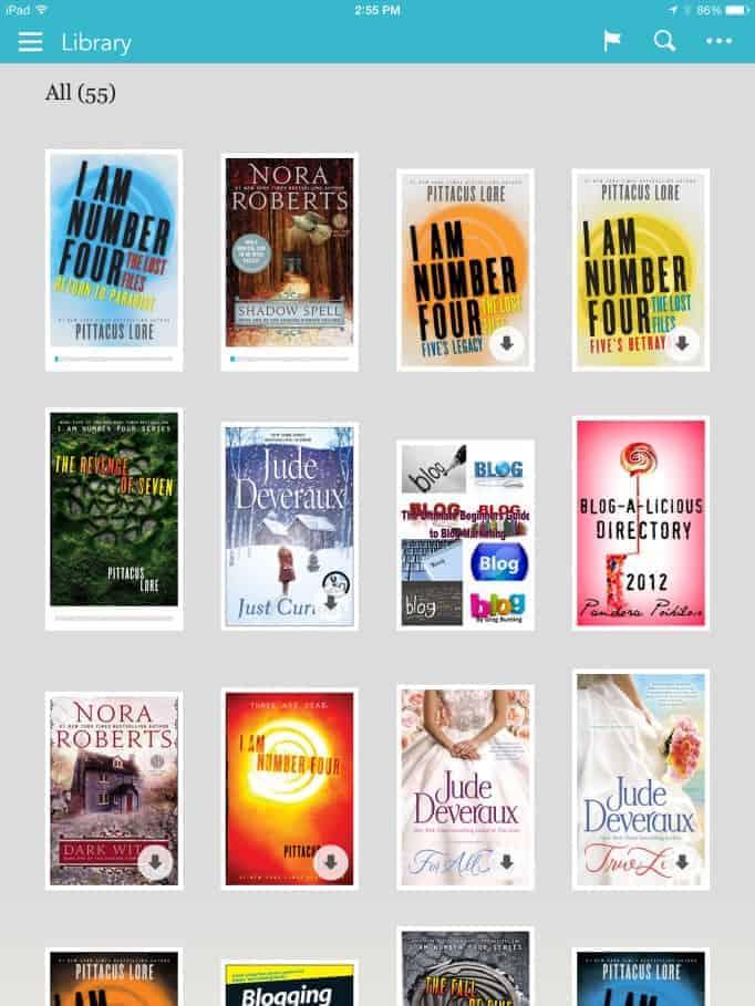 kobo app library