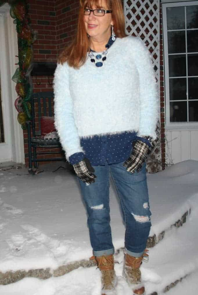 forever 21 sweater old navy b/f jeans