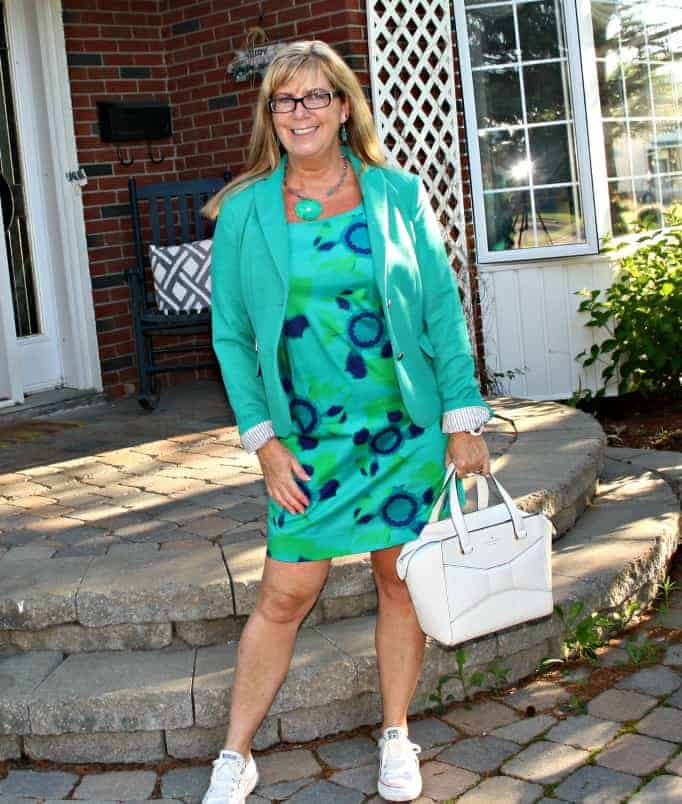 Classic Blazer and Joe Fresh Shift Dress, converse and a beau bag