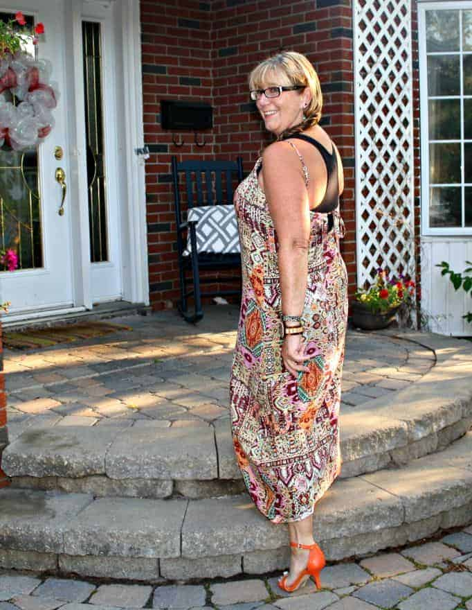 Target Tribal Dress and Shoe Dazzle Orange strap sandals, Jord watch