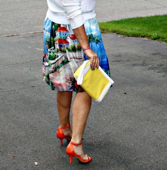 Kate spade Clutch and shoe dazzle orange heels
