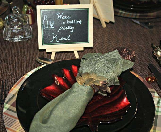 leaf plates and leaf napkin rings