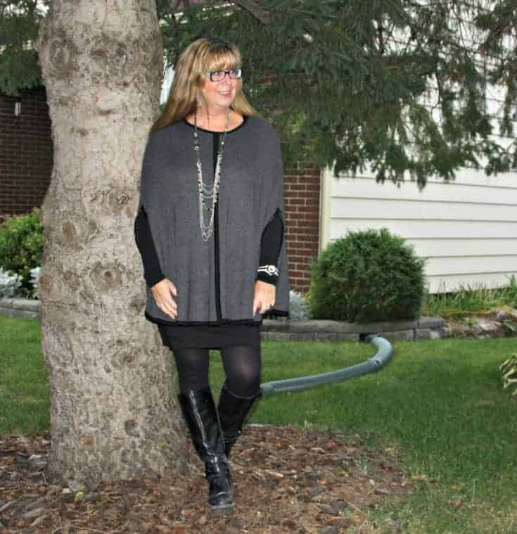 Grey Ponch with LBD and GH Bass Boots