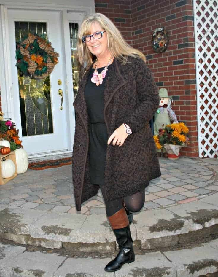 two tone target boots and LBD from Banana Republic with konifer watch