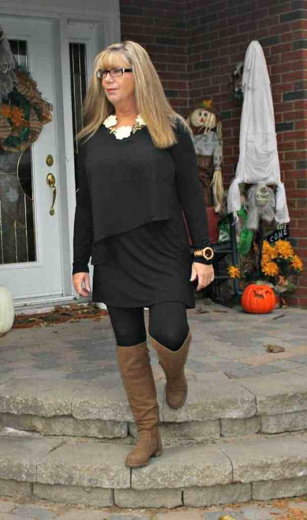 Suri leggings with happiness boutique necklace and OTK boots