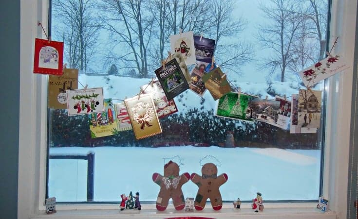 Christmas cards and a fun display
