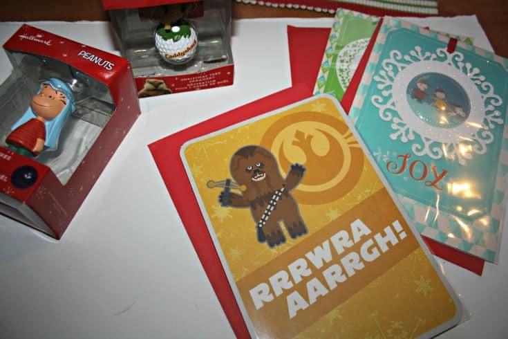 Hallmark Greeting Cards and Hallmark Ornaments starwars and peanuts