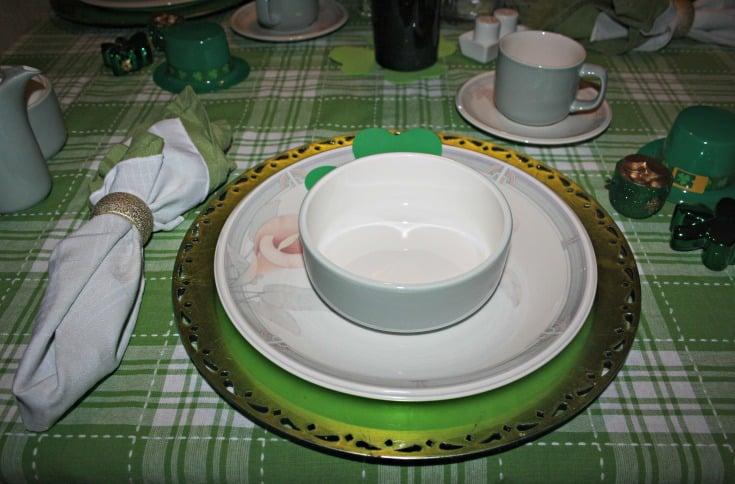 St Patrick's tablescape 2