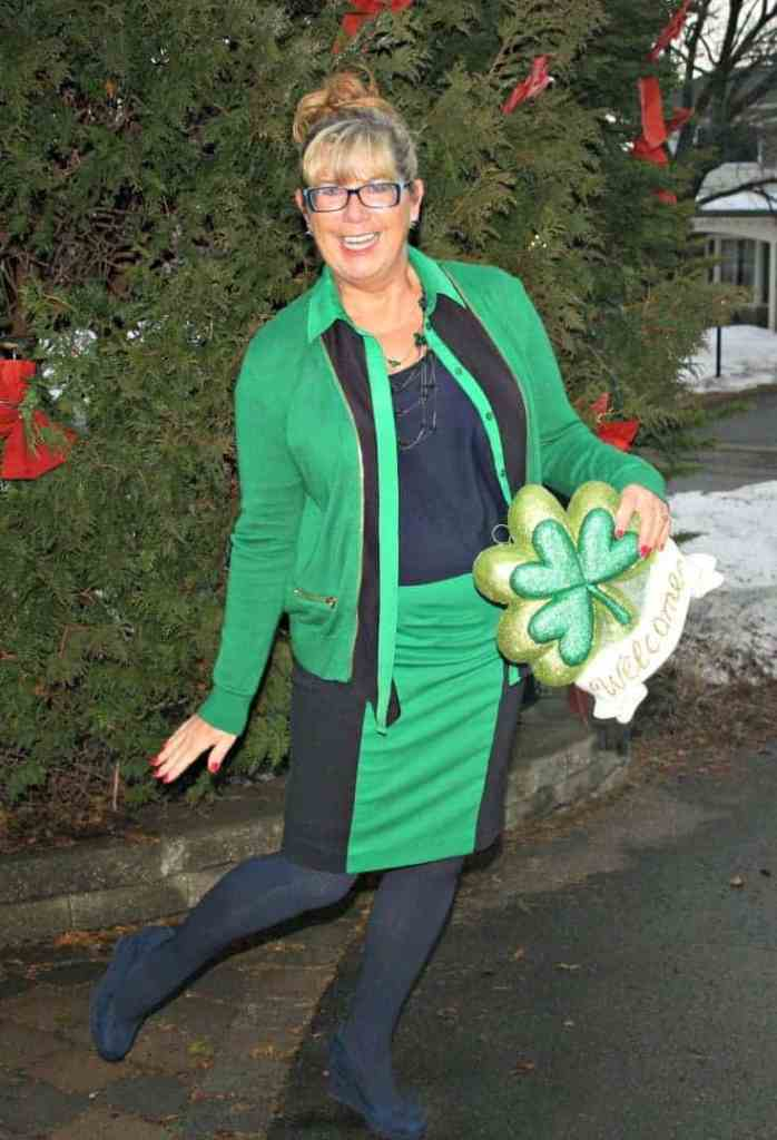 Michael by Michael Kors outfit in Green with welcome Shamrock and a big grin